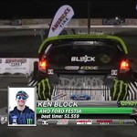 Tanner Foust vs Ken Block at the Ken Block Gymkhana Grid Invitational 2010