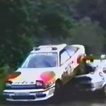 Rally car crash : hit and run!
