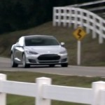 Tesla Model S hits the road