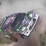 WRC Portugal 2011: Ken Block rolls his car five times