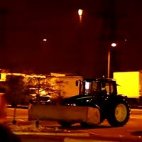 Runaway tractor wreaks havok in a Walmart parking lot