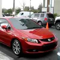 New 2012 Honda Civic commercial's backstage