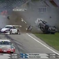 Massive Crash at the Porsche Carrera Cup Italia at Imola
