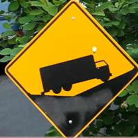 Truck driver sign comprehension fail