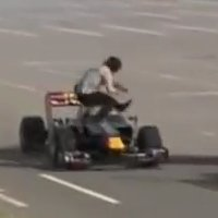 Red Bull Formula 1 accidentally hits fan in Japan