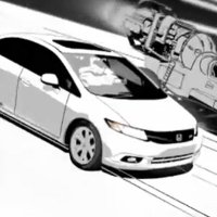 Honda presents the 2012 Civic Si with a cartoon