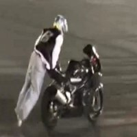 A motorcycle stunt fail
