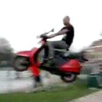 Scooter stunt goes hilariously wrong