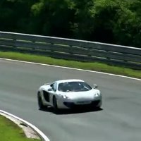 The McLaren MP4-12C testing at the Nürburgring