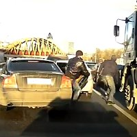 Russian robbery caught on dashcam