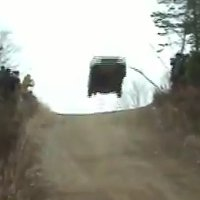 Watch a Honda Civic get some crazy air during a Rally in Poland