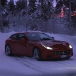 Ferrari FF goes out with World Rally Champion for some winter fun
