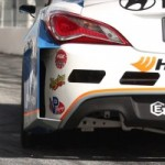 Rhys Millen brle du caoutchouc avec sa nouvelle Hyundai Genesis Coupe  Long Beach