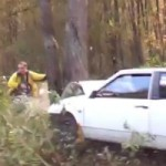 Watch a Rally Photographer Escape Death Thanks to a Tree