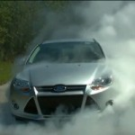 2012 Ford Focus Does Manly Two-Minute Burnout, Kills Two Tires