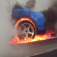 mustang-fire-burnout