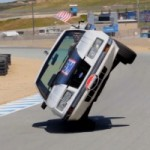 Watch a Ford Mustang Driver Attempting a Full Lap on Two Wheels at Laguna Seca