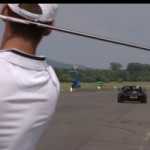 Watch David Coulthard Catching a Golf Ball Travelling at 178 MPH with an SLS AMG