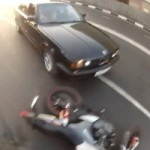 Watch a BMW Driver Intentionally Hitting Motorcyclist