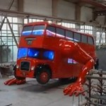Watch a London Double-Decker Bus Doing Push-Ups
