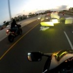 Styrofoam Flies Out of Trailer on Highway, Sends Two Motorcyclists Crashing Hard