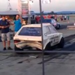 FAIL – Drag Racer Crashes Into Other Car… In Reverse!