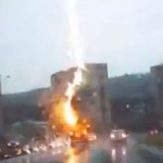 Watch Lightning Strike Inches Away From SUV, Destroying its Electronics