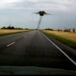 Watch A Really Low Flying Jet Fighter Scare the Life Out Of Russian Motorists