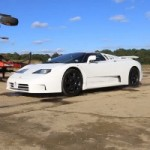 Watch a Badass Quad-Turbo V12 Bugatti EB110 SS Burnout