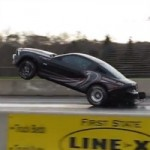 Watch a 2013 Ford Mustang Cobra Jet Perform a Wheelie, Then Crash (VIDEO)