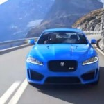 Watch and Hear The 550 HP 2013 Jaguar XFR-S Tearing Down The Swiss Alps