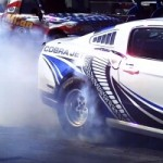 Watch the Twin-Turbo 5.0 V8 Ford Mustang Cobra Jet Concept Doing Massive Burnouts 