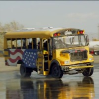 yellow-school-bus-drift