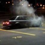 FAIL – Man Drifts His BMW E30 In Empty Parking Lot, Smashes It Into A Pole