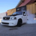 Video: Ford SVT Lightning Shreds Some Tires With A MASSIVE Burnout