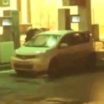You're Doing It Wrong : Woman Washes Windshield With Gasoline At Gas Station (VIDEO)