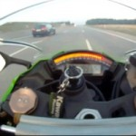 Video: Biker Blasts At 300 km/h On Autobahn, Gets Surprised By Mighty Wagon