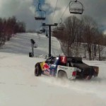 Watch A 900 Horsepower Red Bull Truck Taking Over The Ski Slope