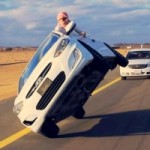 Video: Watch Crazy Arabs Driving on Two Wheels While Changing A Tire