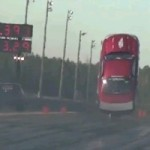 Video: Drag Racing Ford Mustang Does An Insane Wheelie, Lifts All Four Wheels Off The Ground