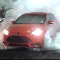 Ford-Focus-ST-Burnout
