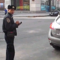Illegally-Parked-Police-Officer