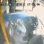 Video: Heroic Driver Saves Passengers When Lamppost Smashes Through His Bus Windscreen
