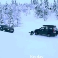 sledder-close-call