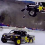 Course de pickups sur neige – Red Bull Frozen Rush 2014