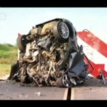 There's not much left of the Focus after this crash test…
