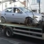 That's one way to not have your car towed…
