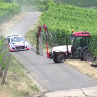 Almost-hits-tractor