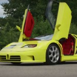 Chris Harris gets behind the wheel of the Bugatti EB110 SS