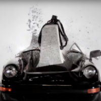 Destroying-a-porsche-for-art